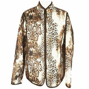 Dennis Basso Animal Print Jacket